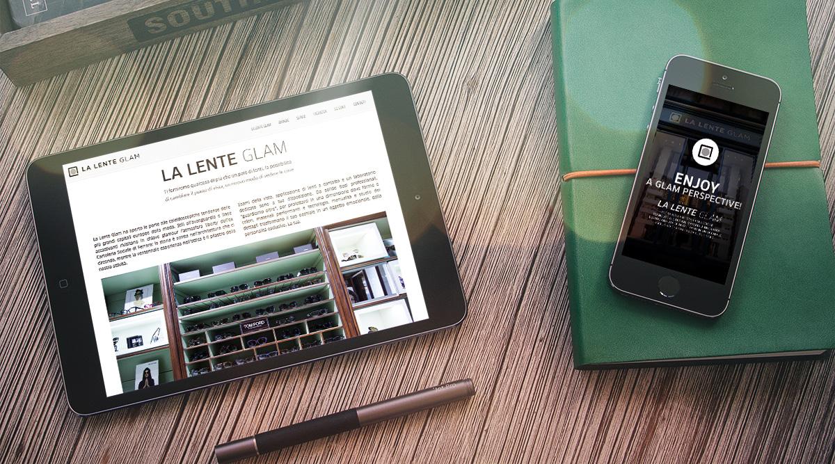 La Lente Glam - Realizzazione Siti Web - Web Agency INSIDE Comunicazione