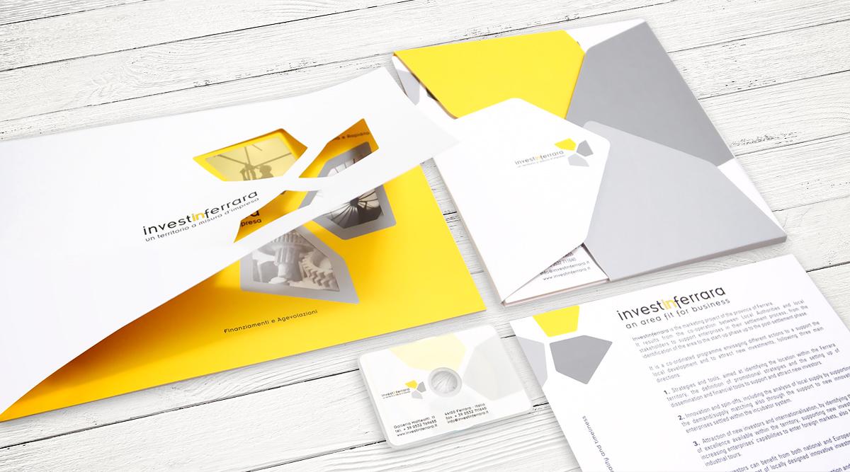 Brand Identity InvestinFerrara - Agenzia Brand Identity Milano INSIDE Comunicazione